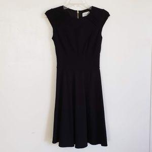 Eliza J Women's Cap Sleeve Fit N Flare Dress Blk 2
